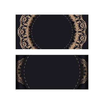 Modèle brochure de félicitations en noir avec des ornements grecs bruns