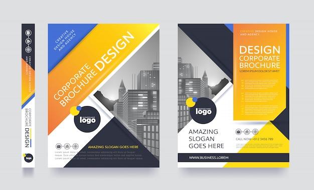 Modèle de brochure flyer affiche moderne