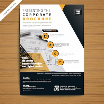 Modèle de brochure / flyer d'entreprise