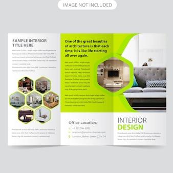 Modèle de brochure de flyerintérieur