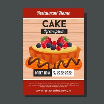 Modèle de brochure de gâteau