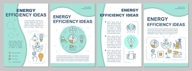Modèle de brochure de idées d'économie d'énergie