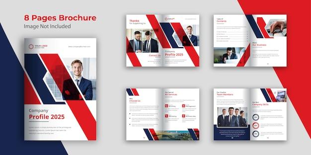 Modèle de brochure ou de livret d'entreprise moderne