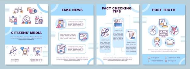 Modèle de brochure de médias citoyens