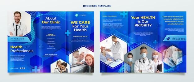 Modèle de brochure médicale réaliste