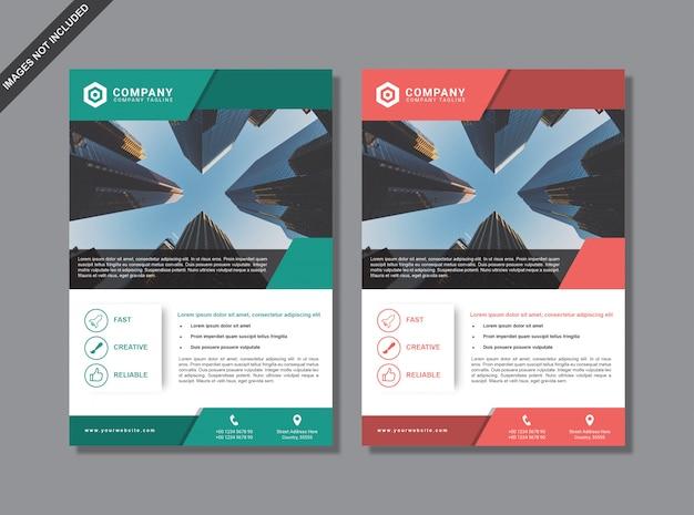 Modèle de brochure minimal moderne