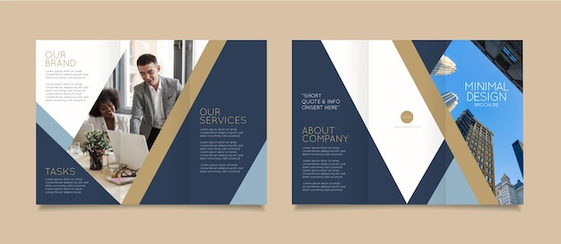 Modèle de brochure minimal avec photo