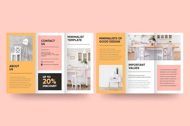 Modèle de brochure minimal avec recto et verso