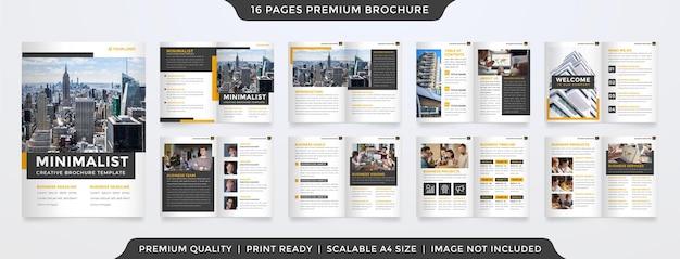 Modèle de brochure minimaliste style moderne