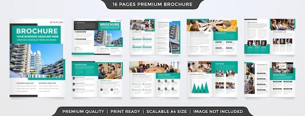 Modèle de brochure minimaliste avec un style propre