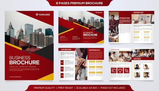 Modèle de brochure minimaliste