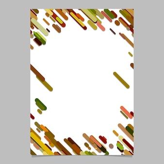 Modèle de brochure de modèle de rayures arrondies diagonales de couleur aléatoire - conception de fond de papeterie vide à la mode
