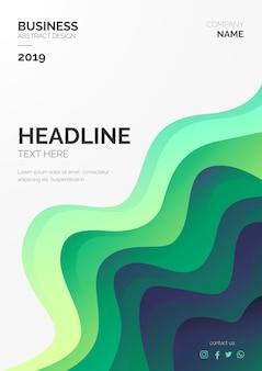 Modèle de brochure moderne avec vagues abstraites
