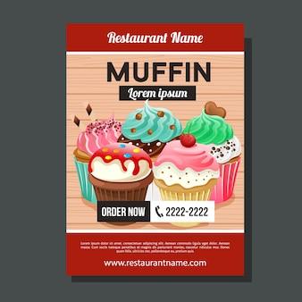 Modèle de brochure de muffin