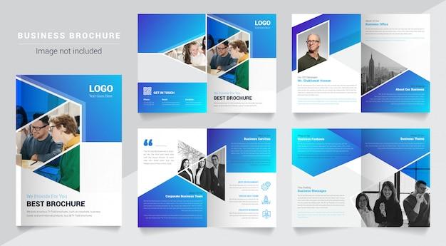 Modèle de brochure multipage de solutions commerciales abstraites simples et propres