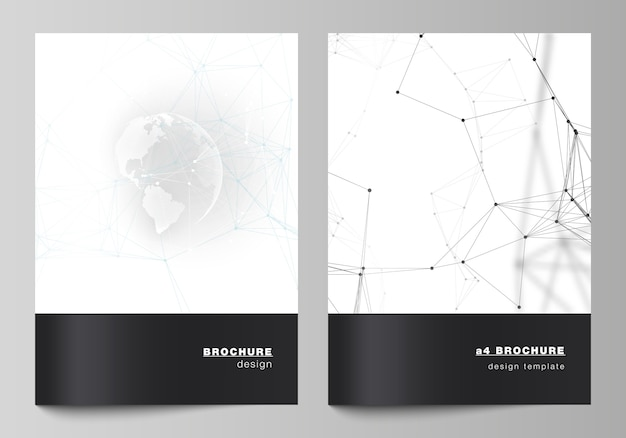 Modèle de brochure noir et blanc