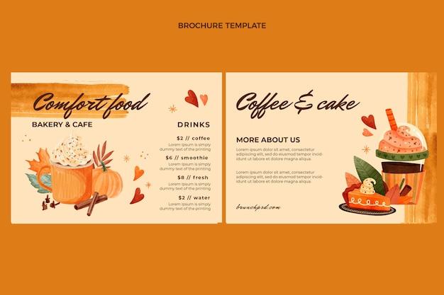 Modèle de brochure de nourriture aquarelle