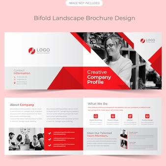 Modèle de brochure de paysage bifold