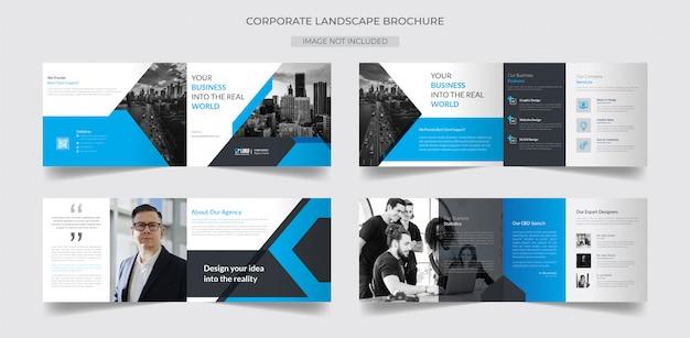 Modèle de brochure de paysage d'entreprise
