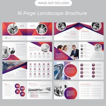 Modèle de brochure de paysage de la page