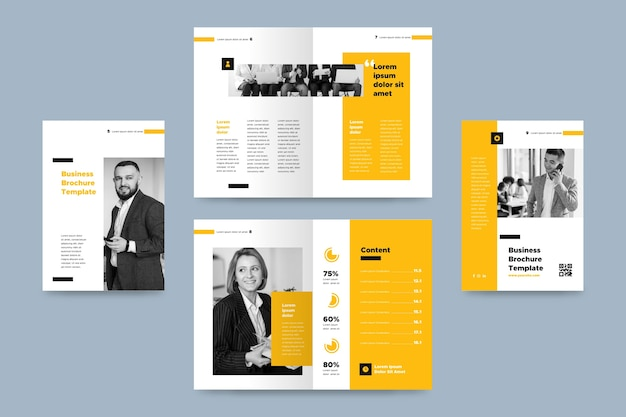 Modèle de brochure avec photo