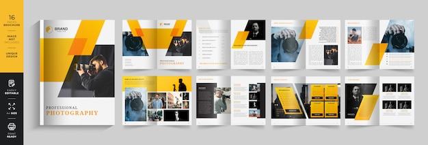 Modèle de brochure de photographie