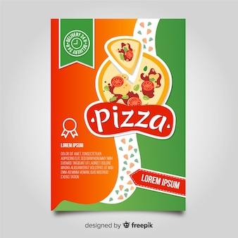 Modèle de brochure pizza