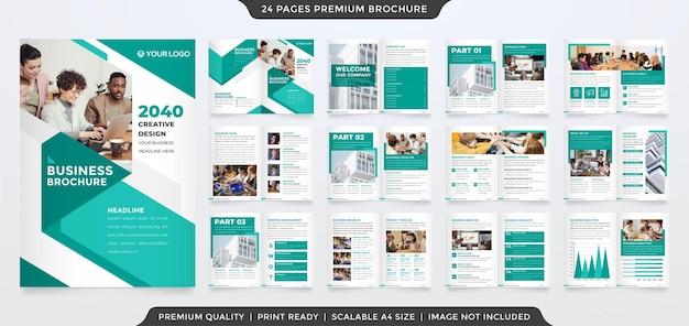 Modèle de brochure pliante polyvalente