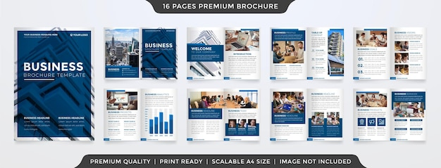 Modèle de brochure pliante style premium