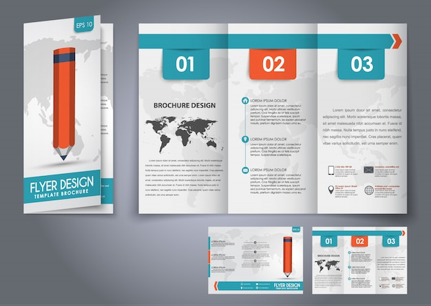 Modèle de brochure pliante triple