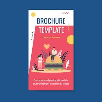 Modèle de brochure pour les amateurs de restauration rapide souffrant de problème de surpoids et de cholestérol élevé