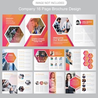 Modèle de brochure de profil d'entreprise