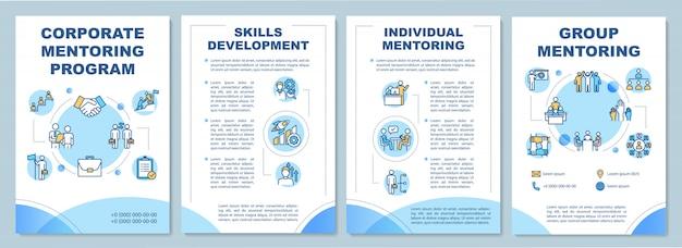 Modèle de brochure de programme de mentorat d'entreprise