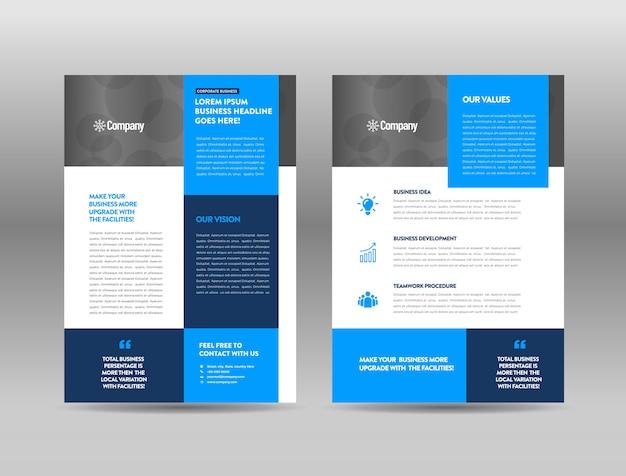 Modèle de brochure de publicité
