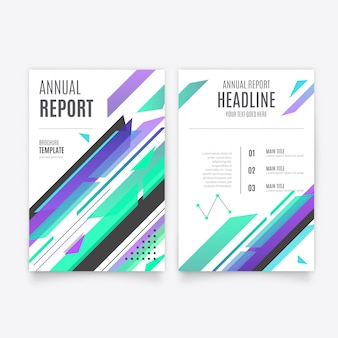 Modèle de brochure de rapport annuel moderne bleu