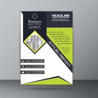 Modèle de brochure sur le rapport annuel pour l'entreprise de société objet
