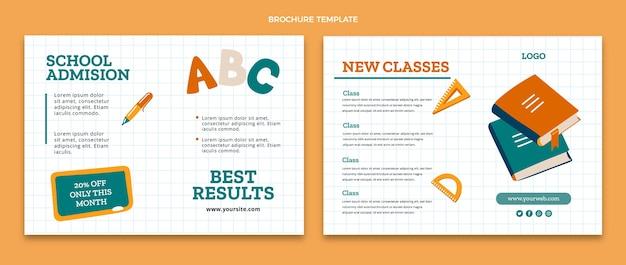 Modèle de brochure de retour à l'école