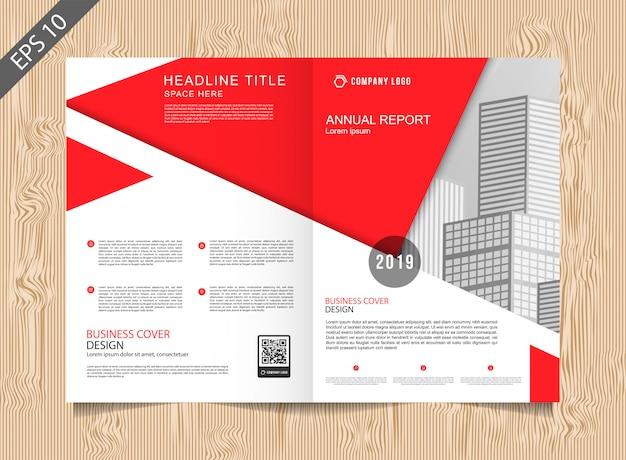 Modèle de brochure rouge