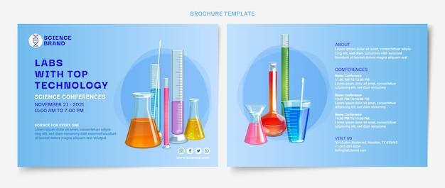 Modèle de brochure scientifique réaliste