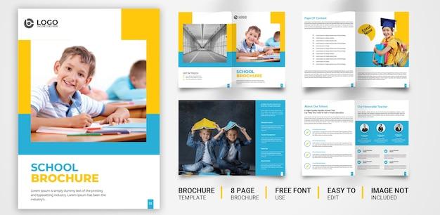 Modèle de brochure scolaire vecteur premium