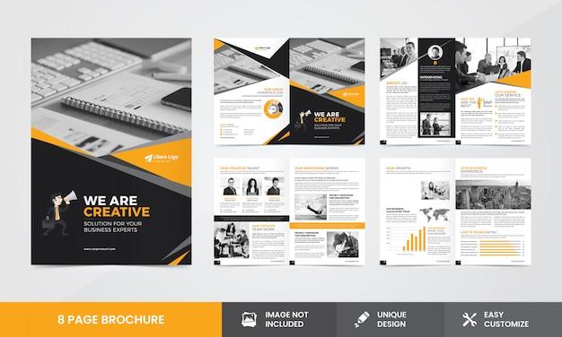 Modèle de brochure de société d'entreprise