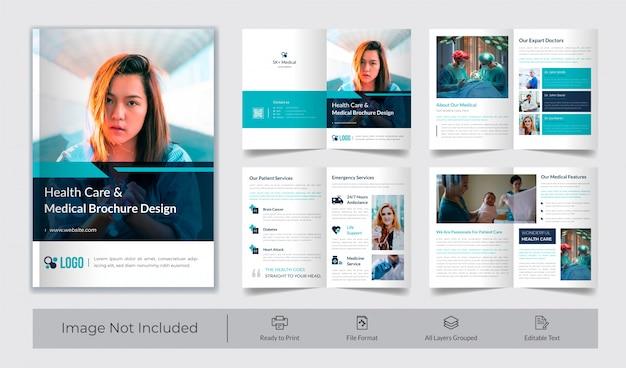 Modèle de brochure de soins de santé et médicaux