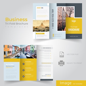 Modèle de brochure tri fold