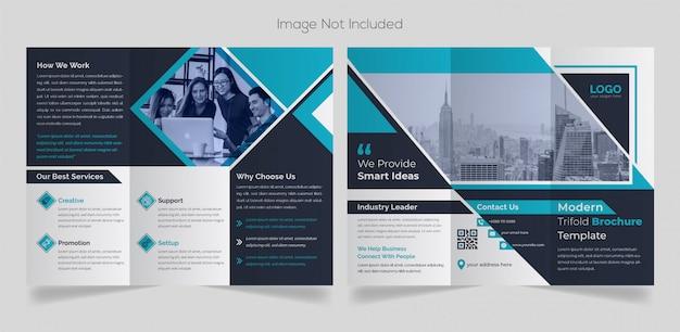Modèle de brochure de triple entreprise moderne
