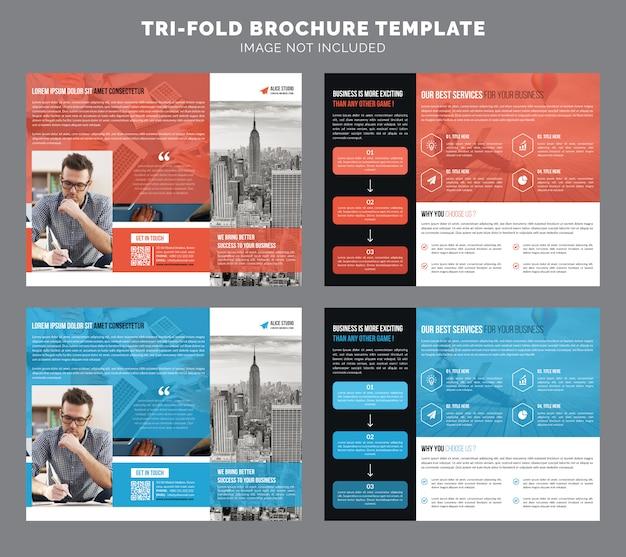 Modèle de brochure de triple entreprise