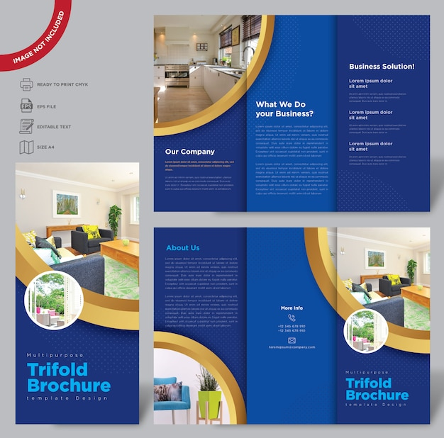 Modèle de brochure de triplis multipurpus