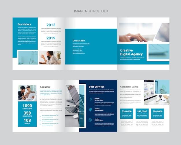 Modèle de brochure à trois places