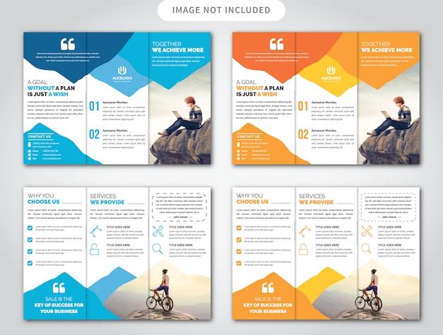 Modèle de brochure de trois plis