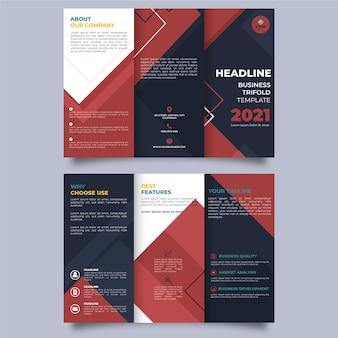 Modèle de brochure à trois volets abstrait avec recto et verso