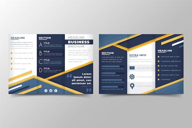 Modèle de brochure à trois volets abstrait